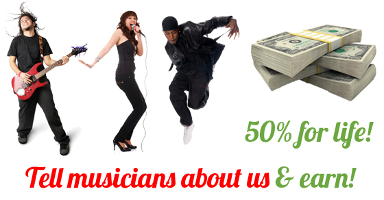 Music Affiliate Program 50 Percent Commisions